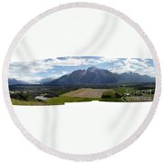 On A Butteiful Day Round Beach Towel