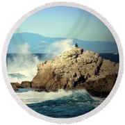 On A Clear Day Cropped Round Beach Towel