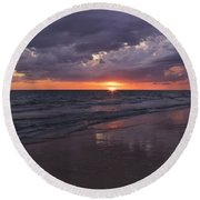 On A Cloudy Night Round Beach Towel