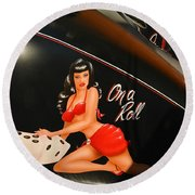 On A Roll 2 Round Beach Towel