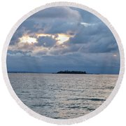 On An Island Round Beach Towel