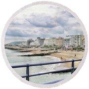 On Brighton's Palace Pier Round Beach Towel