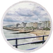 On Brighton's Palace Pier Round Beach Towel