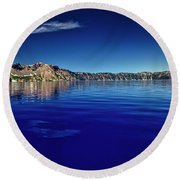 On Crater Lake Round Beach Towel