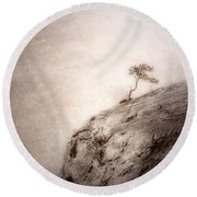 On Edge Round Beach Towel