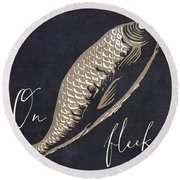 On Fleek Round Beach Towel by Mindy Sommers