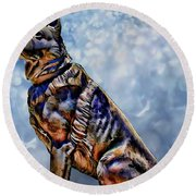 On Guard Round Beach Towel