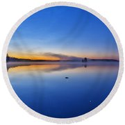 On July Morning At 03.10 Round Beach Towel