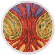 On Retreat Round Beach Towel
