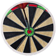 On Target Bullseye Round Beach Towel