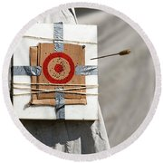 On Target Round Beach Towel