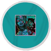 On The Blues Highway With Leadbelly And Muddy Waters Round Beach Towel