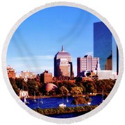On The Charles Round Beach Towel
