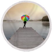 On The Dock Round Beach Towel