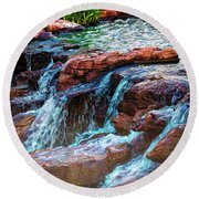 On The Edge Round Beach Towel