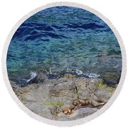 On The Edge Of The Crescent Round Beach Towel