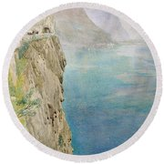On The Italian Coast Round Beach Towel