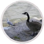 On The Lakefront Round Beach Towel