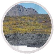 On The Matanuska Glacier Round Beach Towel