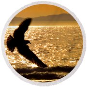 On The Move Round Beach Towel