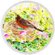 On The Nest Round Beach Towel