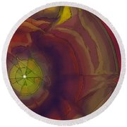 On The Other Side Round Beach Towel