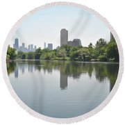 On The Pond Round Beach Towel