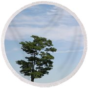 On The Prairie Round Beach Towel