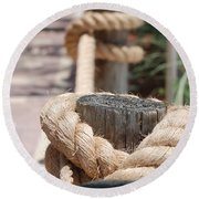 On The Ropes Round Beach Towel