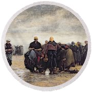 On The Shore Round Beach Towel by Jacques Eugene Feyen