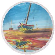 On The Shore Round Beach Towel