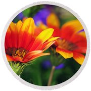 On The Sunny Side... Round Beach Towel