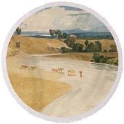 On The Tees At Rockcliffe Round Beach Towel