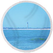 On The Way To Cape May Round Beach Towel