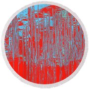On The Way To Tractor Supply 3 18 Round Beach Towel