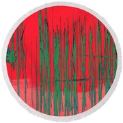 On The Way To Tractor Supply 3 23 Round Beach Towel