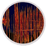 On The Way To Tractor Supply 3 26 Round Beach Towel