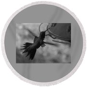 On The Wings Of A Hummingbird Round Beach Towel