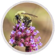 On Top Of The World - Bee Style Round Beach Towel