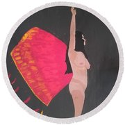 On Wings Of Creation Round Beach Towel