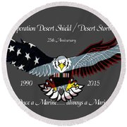 Once A Marine Round Beach Towel