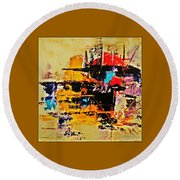 Once Upon A Time In The West Round Beach Towel