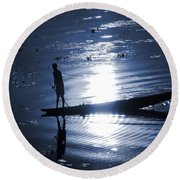Once Upon In A Moonlit Night Round Beach Towel
