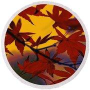 One Autumn Evening By Kaye Menner Round Beach Towel