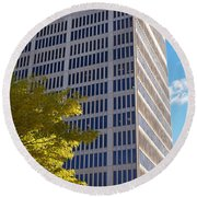 One Broadway Cambridge Ma Kendall Square Round Beach Towel