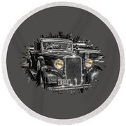 One Cool 1935 Dodge Pickup Round Beach Towel