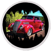 One Cool 1937 Ford Roadster Round Beach Towel