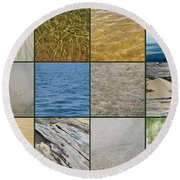 One Day At The Beach  Round Beach Towel by Michelle Calkins