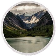 One Day In The Alaskan Wilderness Round Beach Towel