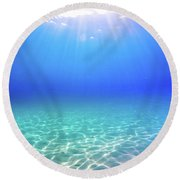 One Deep Breath Round Beach Towel